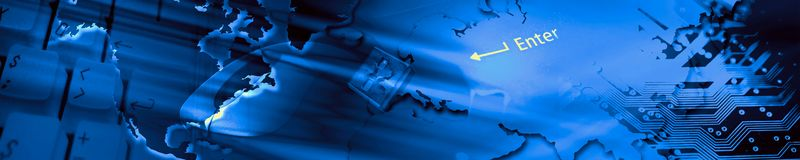 De banner van de technologie. Stock Foto's