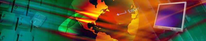 De banner van de technologie. Stock Foto