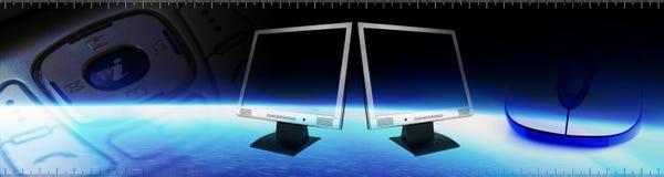 De banner van de technologie royalty-vrije illustratie