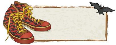 De Banner van de Tennisschoenen van de knuppel Vector Illustratie