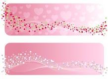 De banner van de Valentijnskaart. royalty-vrije illustratie