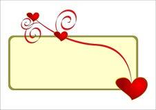 De banner van de valentijnskaart. vector illustratie