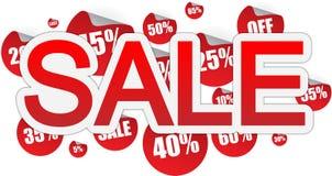 De banner van de verkoop Stock Foto