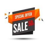 De banner van de verkoop Marketing achtergrond Grote verkoopmarkering Moderne affiche Speciale aanbieding 50 percents weg Vector  Royalty-vrije Stock Afbeelding