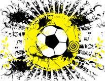 De banner van de voetbalbal grunge royalty-vrije illustratie