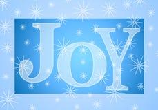 De Banner van de Vreugde van Kerstmis in Blauw Stock Afbeelding