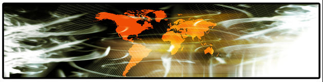 De banner van de wereld Stock Afbeeldingen