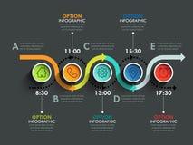 De banner van de zakenkringschronologie Stock Foto's