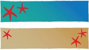 De banner van de zomer vector illustratie