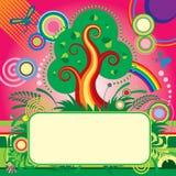 De banner van de zomer Stock Afbeelding