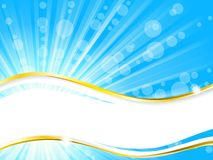 De banner van de zonneschijn met horizontale transparantie, Stock Fotografie