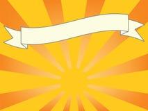 De Banner van de zonnestraal Stock Foto's