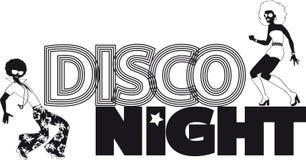De banner van de disconacht royalty-vrije illustratie