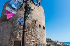 De banner van girod ` Italië in de strandboulevard Stock Afbeelding