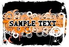 De Banner van Grunge. Cirkels. Stock Afbeeldingen