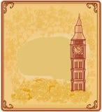 De banner van Grunge met Londen Stock Afbeelding