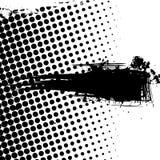 De banner van Grunge met punten Stock Foto's
