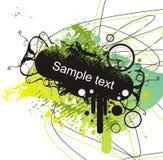 De banner van Grunge op abstracte rug Royalty-vrije Stock Foto