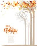 De banner van de herfstbomen stock illustratie