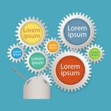 De Banner van het Aantalopties van Infographics van kleurentoestellen Stock Fotografie