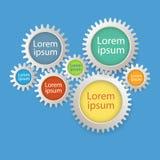 De Banner van het Aantalopties van Infographics van kleurentoestellen Stock Foto