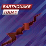 De Banner van het aardbevings vandaag Nieuws vector illustratie