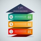 De banner van het bedrijfs de groeiconcept met 3 opties Royalty-vrije Stock Afbeeldingen
