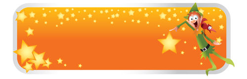 De Banner van het Beeldverhaal van Kerstmis van het elf Stock Foto's