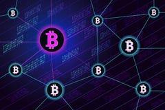 De banner van het Blockchainconcept Royalty-vrije Illustratie