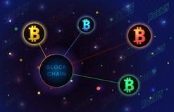 De banner van het Blockchainconcept Stock Illustratie