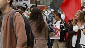` De Banner van het CORRUPTIE` Protest