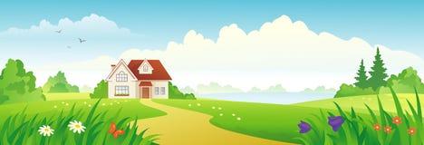 De banner van het de zomerhuis stock illustratie