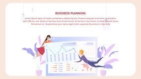 De Banner van het het Documentontwerp van de bedrijfs Planningsanalyse stock illustratie