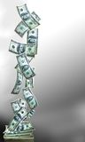 De banner van het geld verticle Royalty-vrije Stock Fotografie