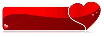 De banner van het hart Royalty-vrije Stock Foto