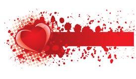 De banner van het hart Royalty-vrije Stock Afbeeldingen
