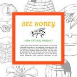 De banner van het honingskader Stock Foto's