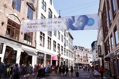 De banner van het de Jazzfestival van Kopenhagen royalty-vrije stock afbeeldingen