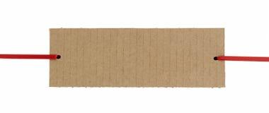 De banner van het karton Stock Afbeeldingen