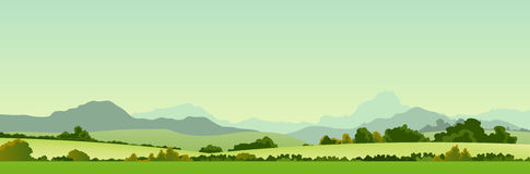 De Banner van het Land van de zomer stock illustratie