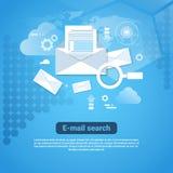 De Banner van het malplaatjeweb met Concept van het Exemplaar het Ruimtee-mail Onderzoek vector illustratie
