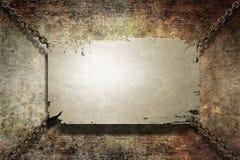 De banner van het metaal grunge Royalty-vrije Stock Fotografie