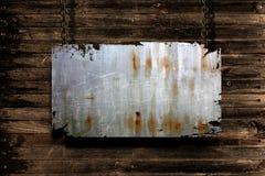De banner van het metaal het hangen Stock Afbeeldingen