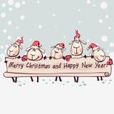 De banner van het nieuwe jaar Stock Foto