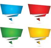 De banner van het origamipictogram Stock Afbeeldingen