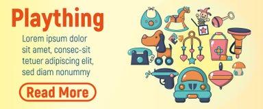 De banner van het Playthingsconcept, beeldverhaalstijl royalty-vrije illustratie