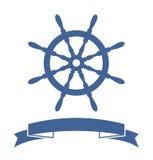 De Banner van het schipwiel Stock Foto