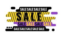 De banner van het verkoopweb Het concept van de korting geometrisch grafisch ontwerp Royalty-vrije Stock Foto