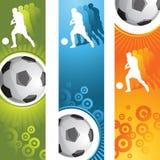 De banner van het voetbal Royalty-vrije Stock Afbeeldingen