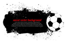 De Banner van het Voetbal van Grunge Royalty-vrije Stock Foto's